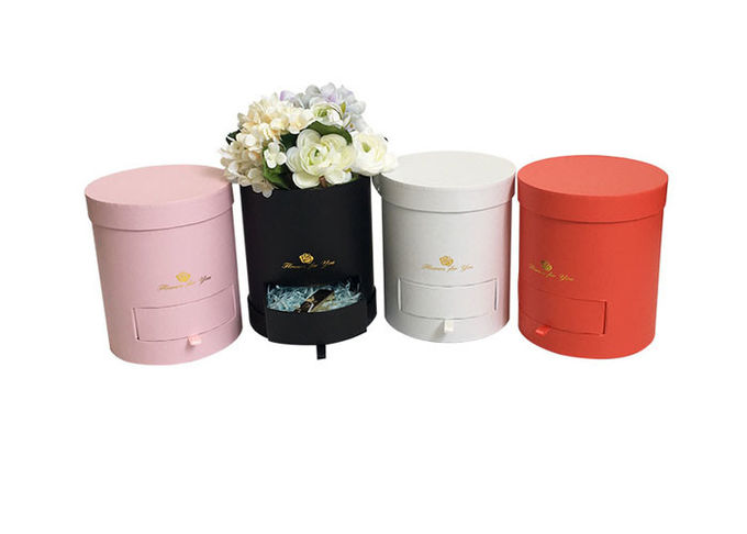 Various Color Round Cardboard Tubes Round Paper Box Large Size For Flower Packaging